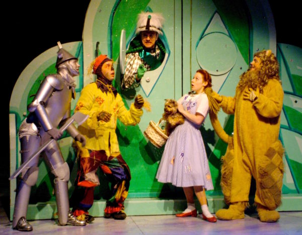 The Wizard of Oz. Michael Ingersoll, Brain James Porter, Kyle Barnette, Angela Ingersoll, Harry Culpepper. Playhouse on the Square.