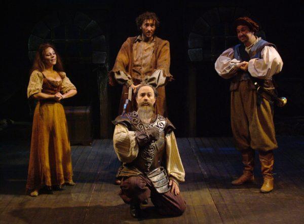 Man of La Mancha. Angela Ingersoll, Michael Detroit, Zak Resigner, Pete Montgomery. Playhouse on the Square.