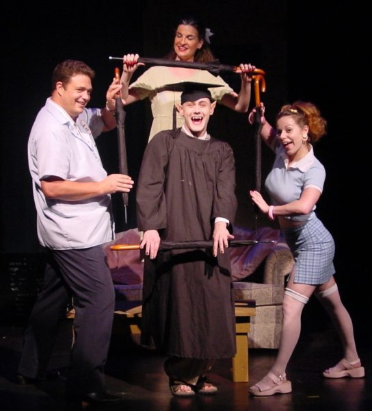 Bat Boy: The Musical. Kent Fleshman, Leah Bray Nichols, Michael Ingersoll, Angela Ingersoll. Playhouse on the Square.