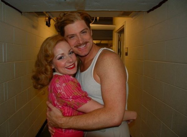 The Comedy of Errors. Backstage. Angela Ingersoll, Sean Alan Krill. Chicago Shakespeare Theater.