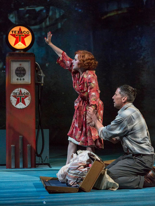 The Great Gatsby. Angela Ingersoll, Ryan Artzberger. Indiana Repertory Theatre.