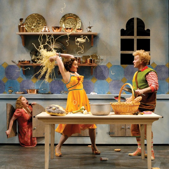 The Comedy of Errors. Angela Ingersoll, Kymberly Mellen, Kevin Gudahl. Chicago Shakespeare Theater.