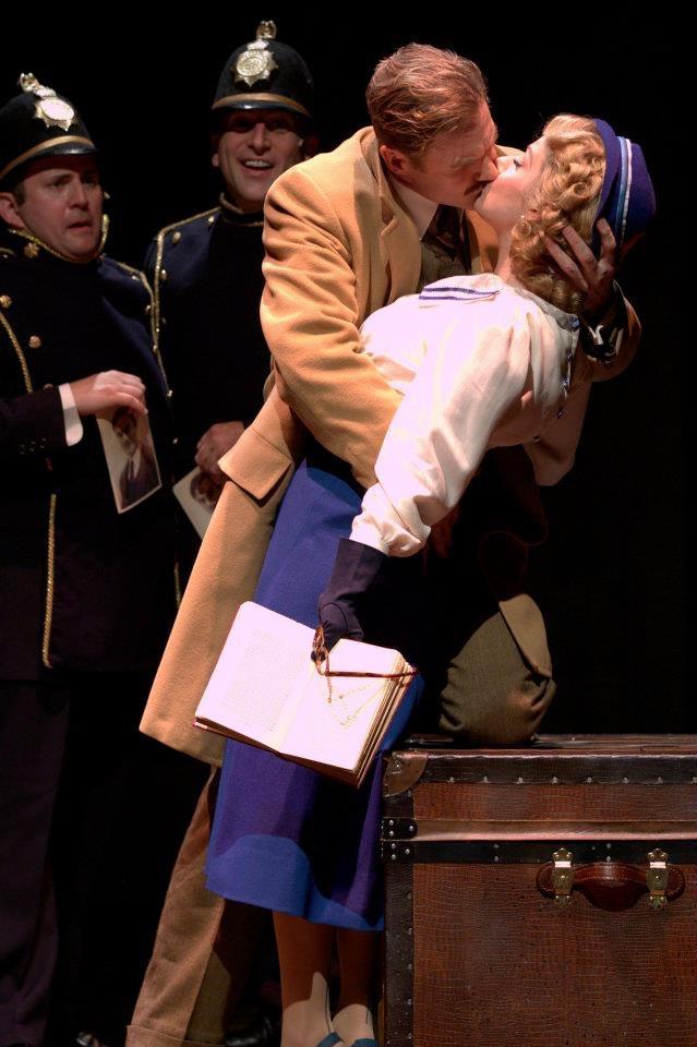 The 39 Steps. Jeff Dumas, Paul Kalina, Peter Simon Hilton, Angela Ingersoll. Drury Lane Theatre.
