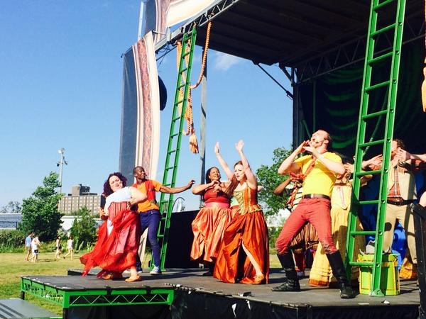 Chicago Shakespeare in the Parks. Lillian Castillo, Sean Parris, Jasmine Bracey, Angela Ingersoll, Colin Morgan.