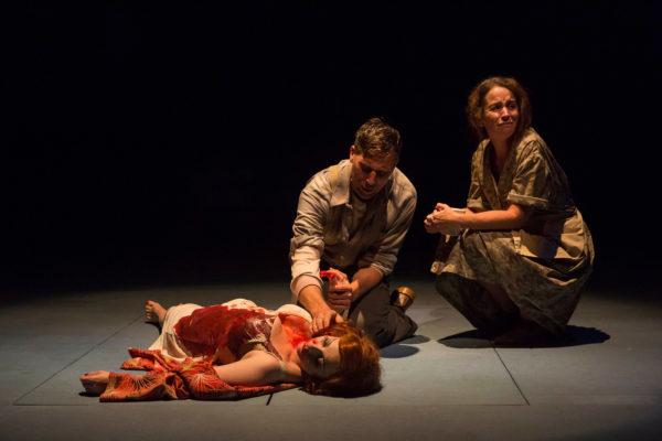 The Great Gatsby. Angela Ingersoll, Ryan Artzberger, Constance Macy. Indiana Repertory Theatre.