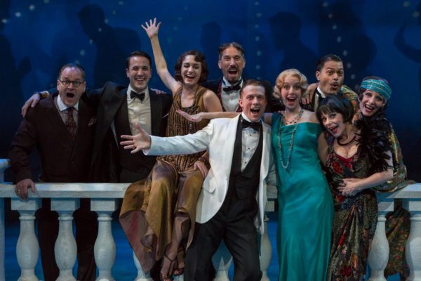 The Great Gatsby. Chuck Goad, Zach Kenney, Teagan Rose, Ryan Artzberger, Matt Schwader, Hillary Clemens, David Folsom, Angela Ingersoll, Constance Macy. Indiana Repertory Theatre.