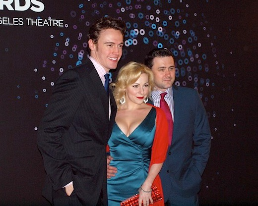Ovation Awards. Erich Bergen, Angela Ingersoll, Michael Ingersoll. Los Angeles.