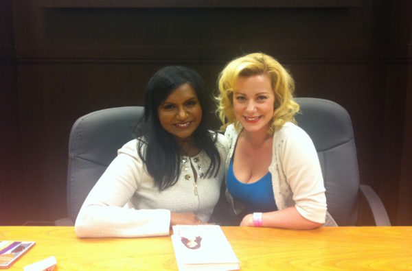 Mindy Kaling, Angela Ingersoll. Book release event. Los Angeles.