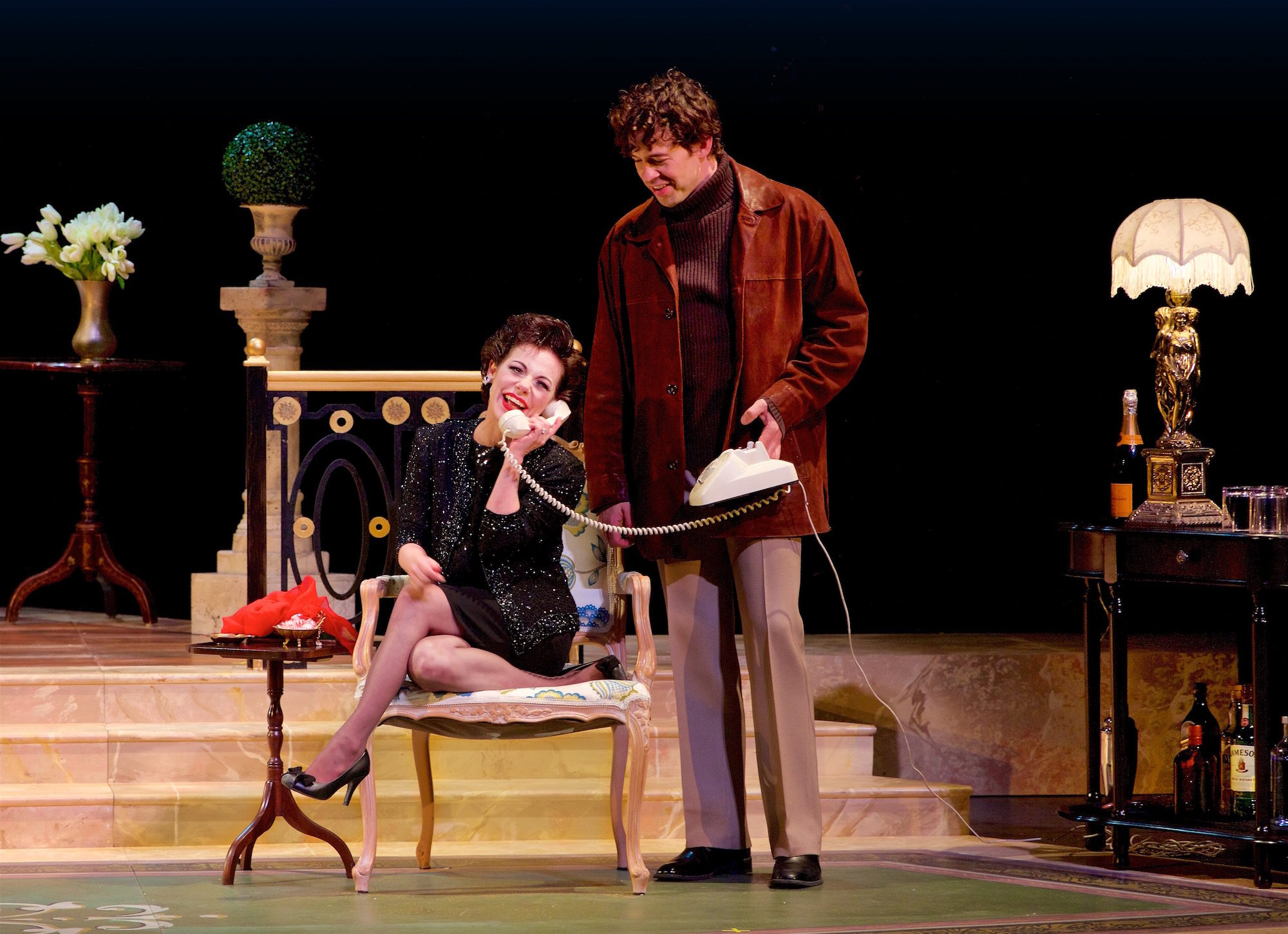 End of the Rainbow. Angela Ingersoll, Zachary Ford. La Mirada Theater, McCoy Rigby Productions.